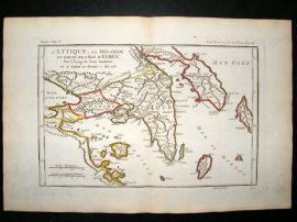 Barthelemy 1790 Antique Map Megarida and Euboea, Greece